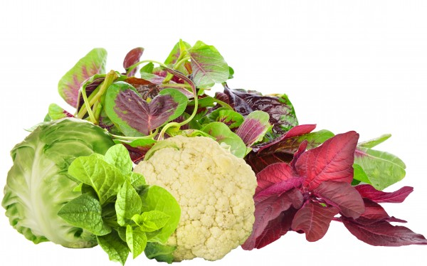 Leafy Greens, Cauliflower and Cabbage
