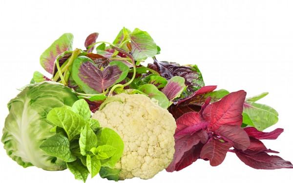 Leafy Greens, Cauliflower and Cabbage